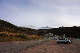 Photo of Cairngorm Mountain with snow on the top