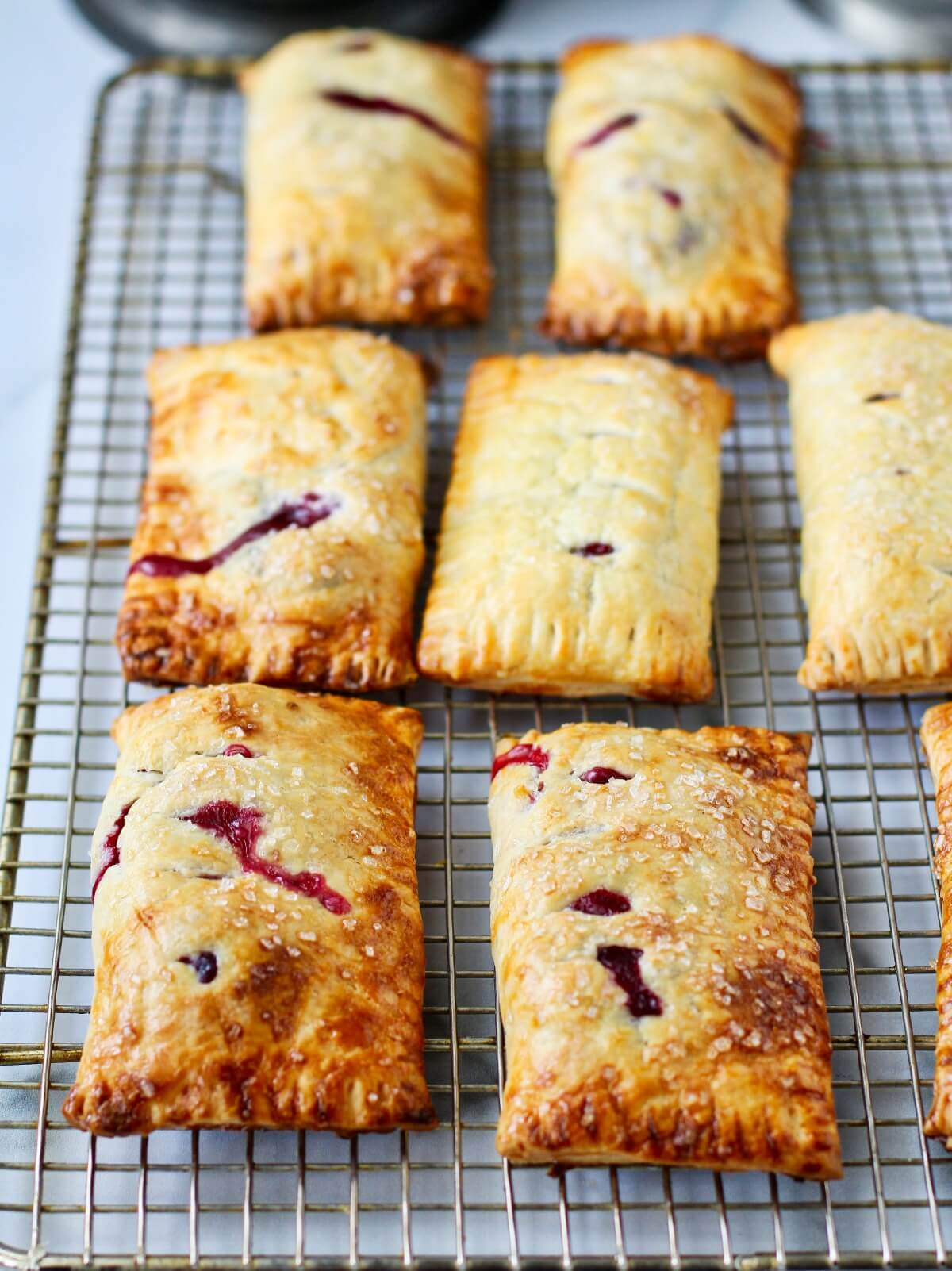 Summer Berry Turnovers cooling on a rack