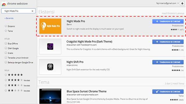 Cara Menggunakan Fitur Night Mode (Modus Malam) Pada Google Chrome