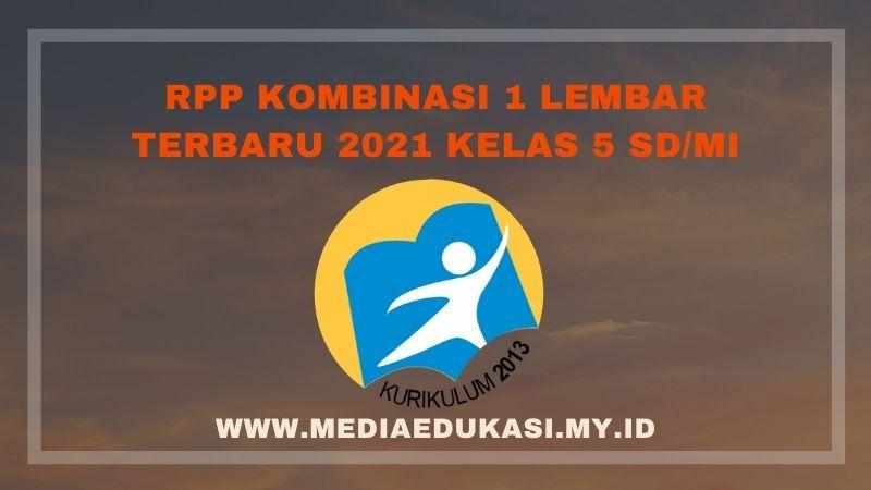 RPP 1 Lembar, RPP Daring, RPP Luring dan RPP Matematika Terbaru 2021 Kelas 5 SD/MI
