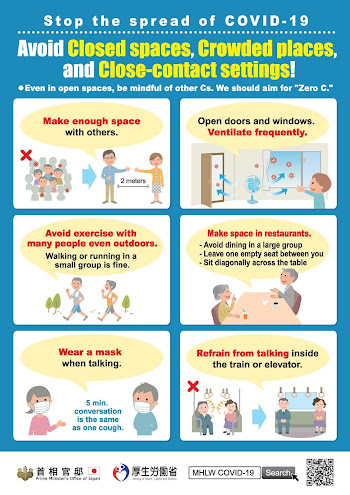 Japanese COVID advice from March 2020 3 avoid the 3 cs
