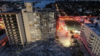 Ocean front residential building partially collapsed in southern Florida : say official