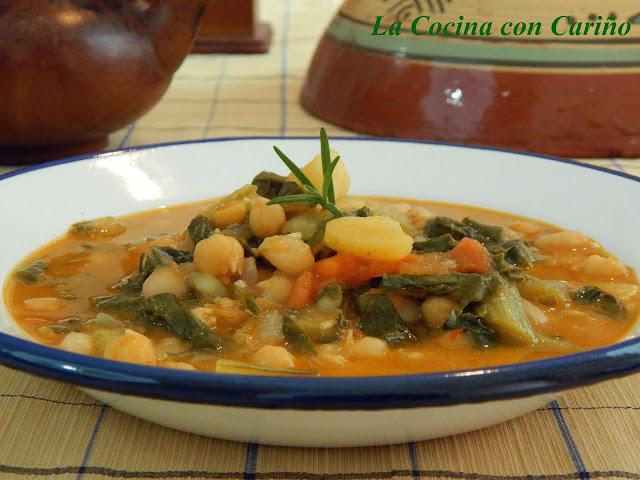 Curry Rojo De Legumbres Y Verduras