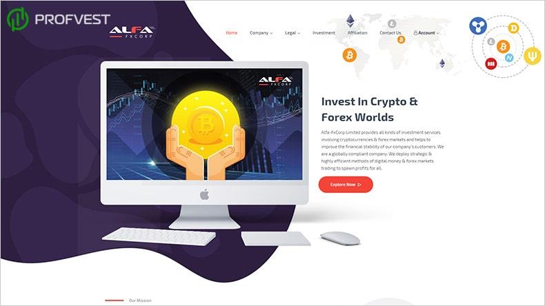 Alfa-fxCorp обзор и отзывы HYIP-проекта