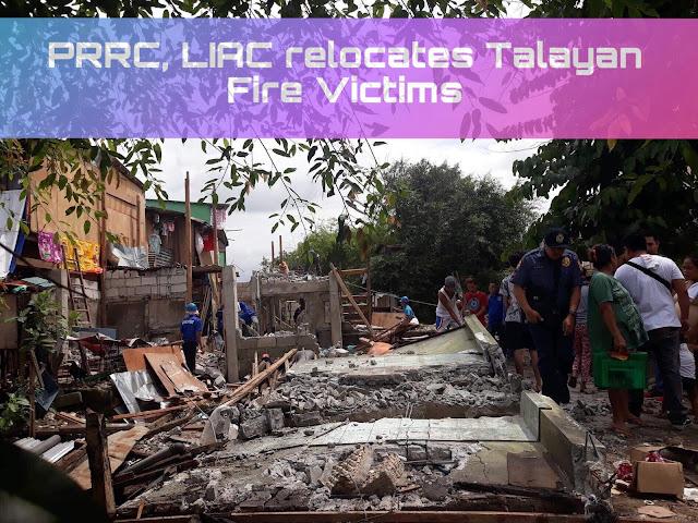 PRRC, LIAC relocates Talayan Fire Victims