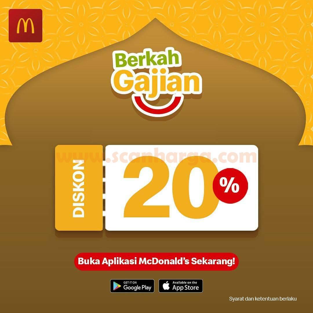Promo McDonalds Berkah Gajian – Dapatkan DISKON hingga 20%