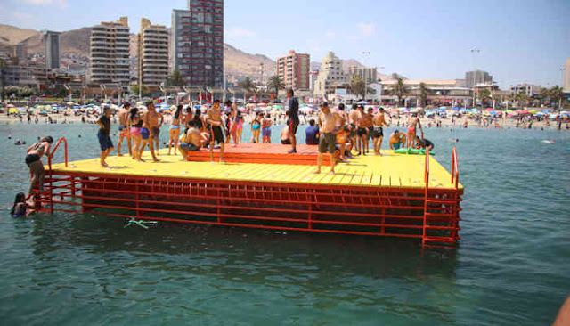 """Balneario Municipal"" Artificial Beach, Antofagasta, Chile."