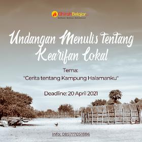 Undangan Menulis Cerita tentang Kampung Halamanku - Diperpanjang Sampai 30 April 2021
