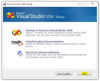 Cara Install Visual Basic 2008