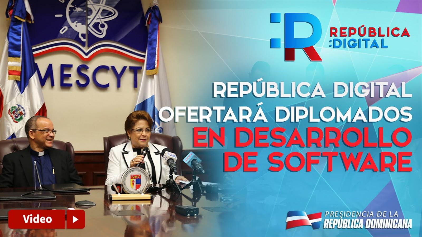VIDEO: MESCYT y República Digital firman convenio con universidades; impartirán diplomados en tecnología