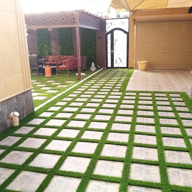 تركيب عشب جداري في بريدة