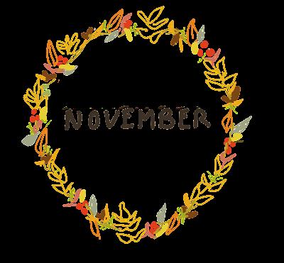 Free November Clip Art Late Autumnal Wreath