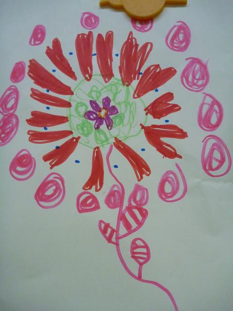 Kindergarten Blumen zeichnen
