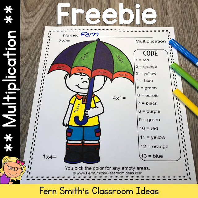 Click Here to Download This Multiplication Color By Number Worksheet Freebie for Your Classroom Today!