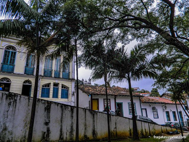 Casarões históricos em Ouro Preto, Minas Gerais