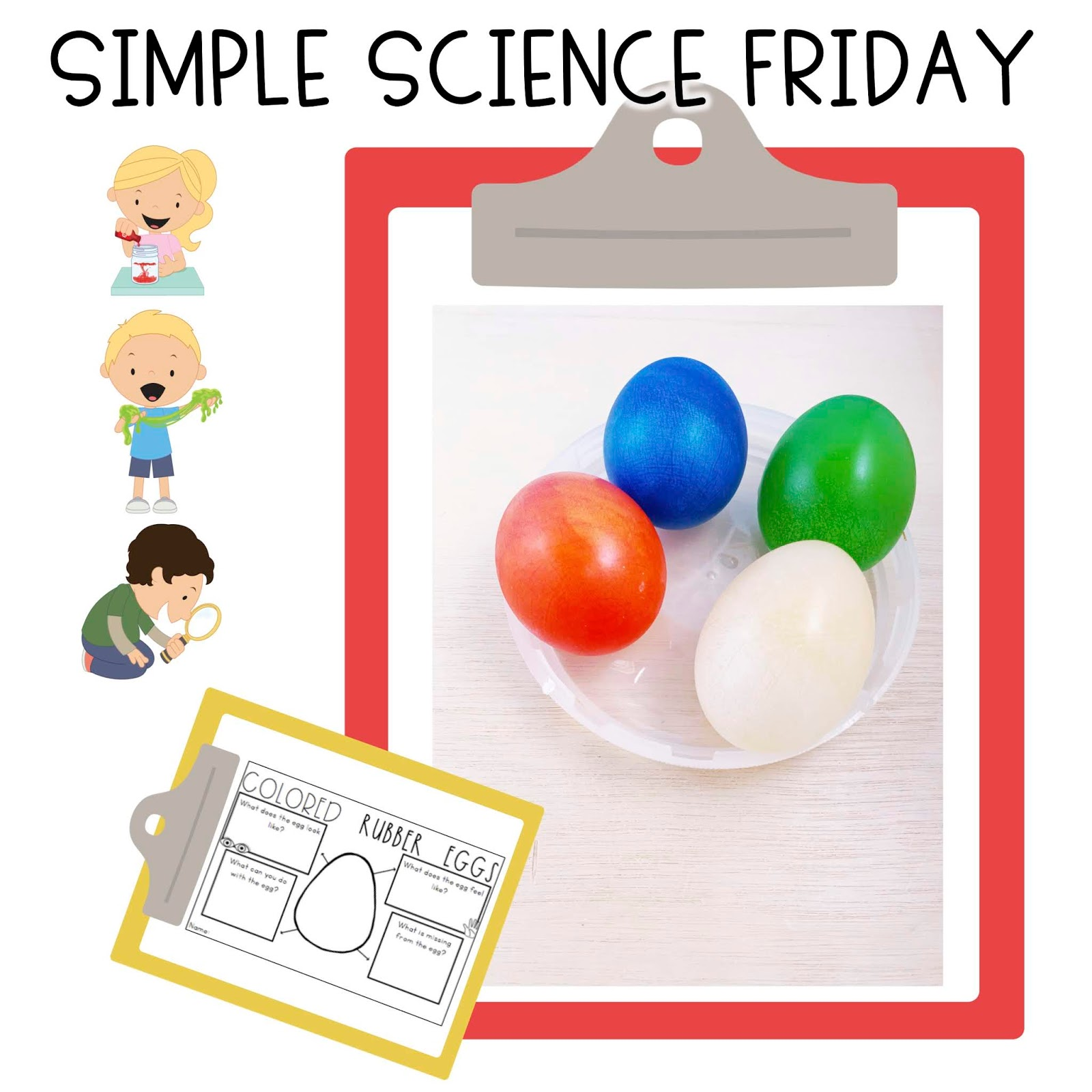 Simple Science Colored Rubber Eggs