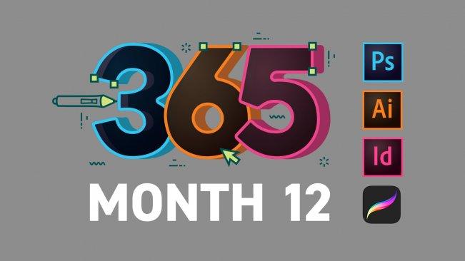 كورس كيف تكون مبدعاً بالتصميم في 365 يوم - الشهر 12