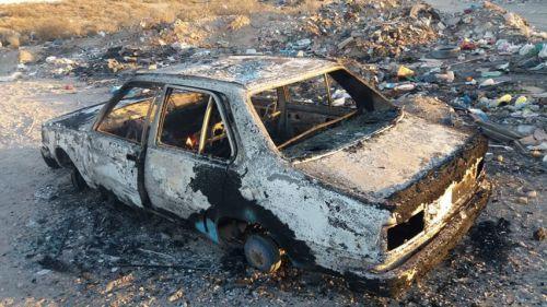 Le robaron el auto y hoy apareció quemado en la barda norte