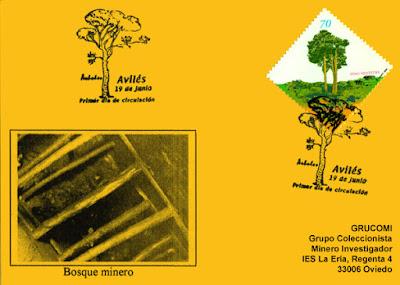 Tarjeta del matasellos Primer Día de Circulación del sello del pino silvestre