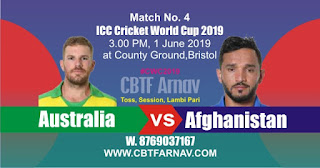 AUS vs AFG 4th Match ICC CWC 2019 Prediction Who Win Today