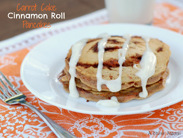 carrot cake roll carrot cake cinnamon roll pancakes a kitchen addiction 2478