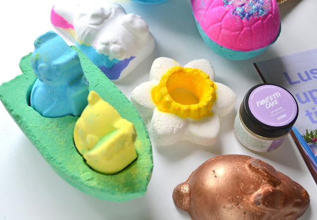 Flatlay of Lush Easter Collection