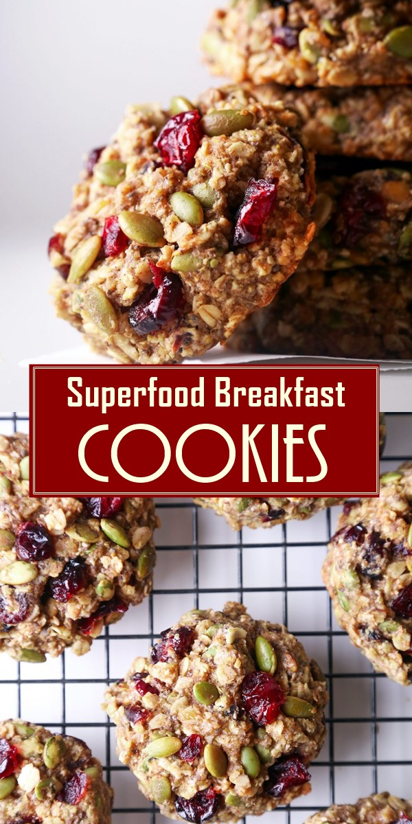 Superfood Breakfast Cookies #Cookiesrecipes