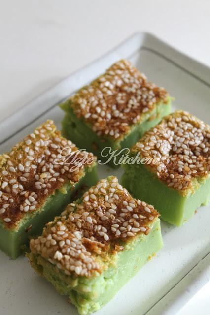 Kek Bakar Pandan Azie Kitchen