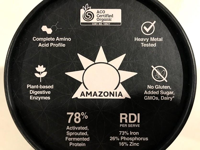 オーストラリアのオーガニックプロテインパウダーamazoniaの特徴