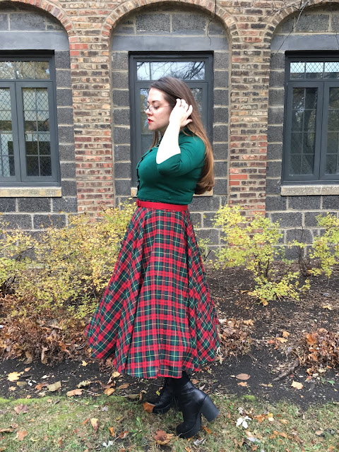 christmas plaid skirt
