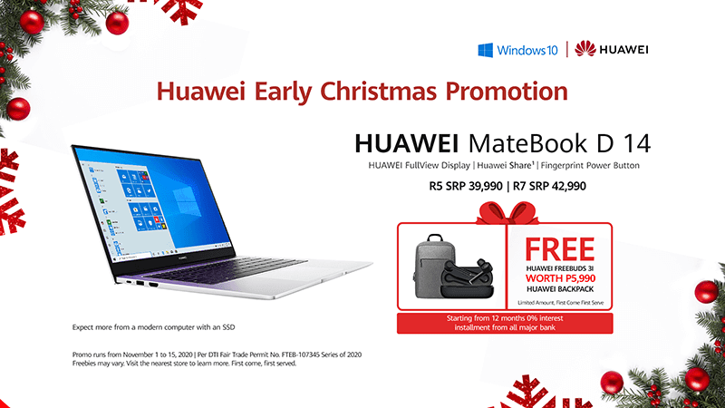Huawei announces MateBook D 14 Early Christmas Promo