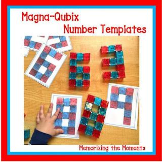 Visual Discrimination Magna-Quibix Number  Building Templates