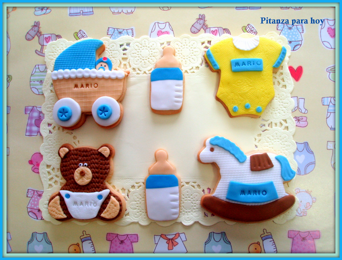 Galletas Decoradas Baby Shower Pitanza Para Hoy Galletas Baby Shower De Niño