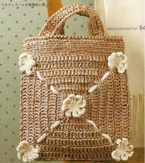5 Bolsos de Crochet con Patrones y Tutoriales .