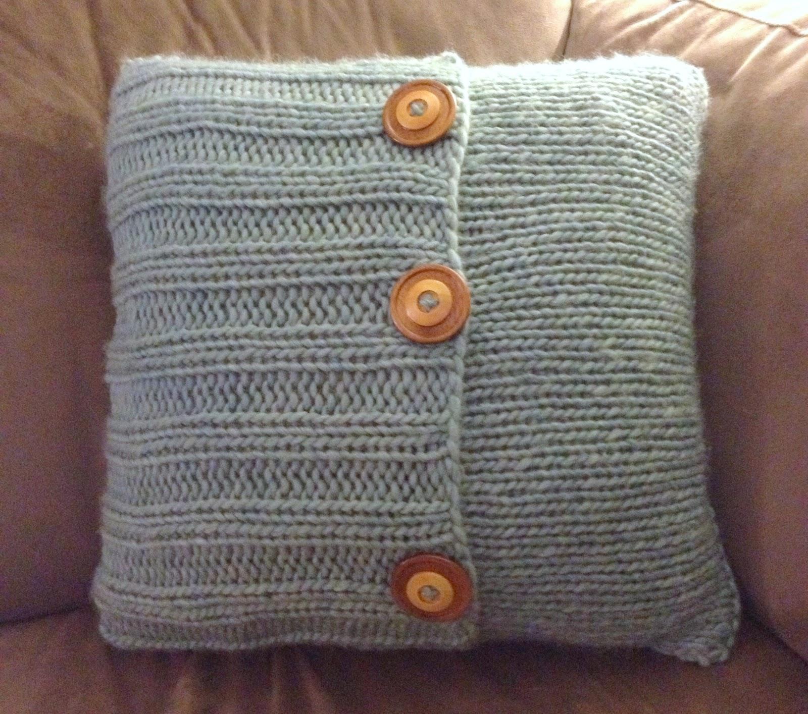 make bake and love Knit Pillow