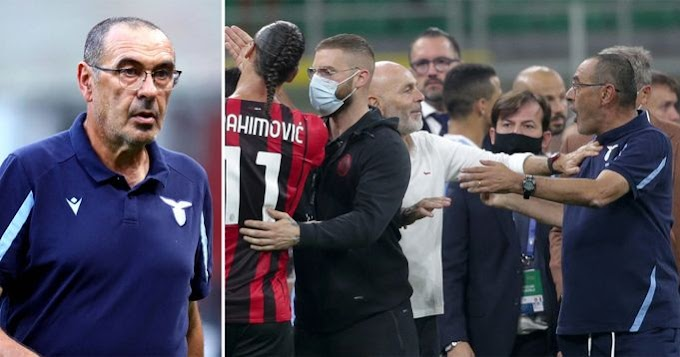 Lazio coach Maurizio Sarri banned for 2 games for 'threatening words'