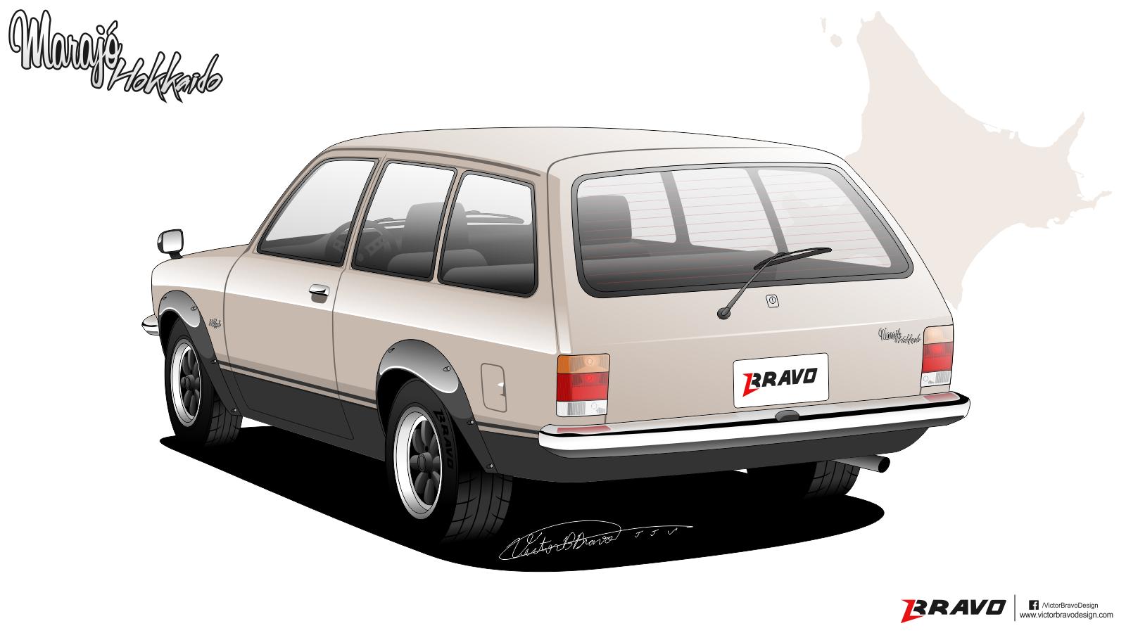 """Imagem mostrando a traseira do Chevrolet Marajó """"Hokkaido"""""""
