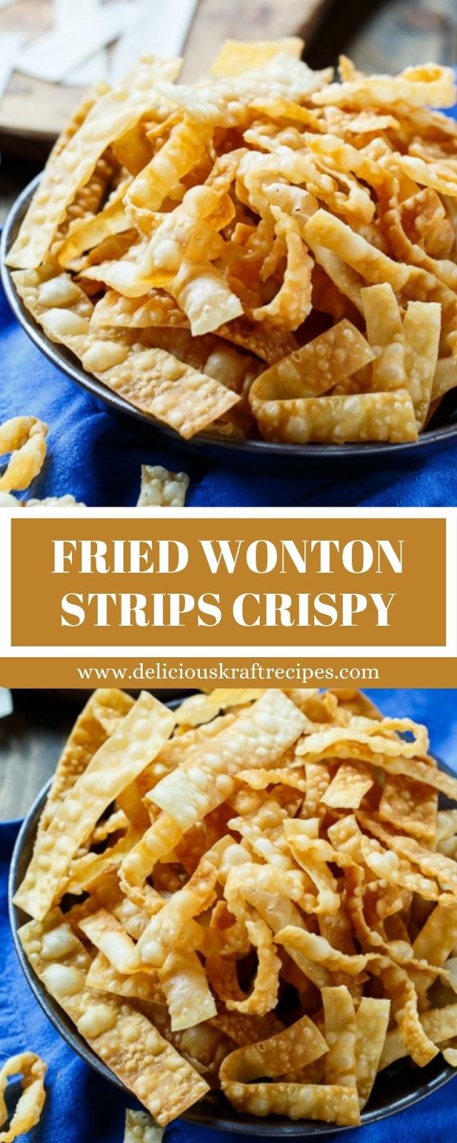 FRIED WONTON STRIPS CRISPY