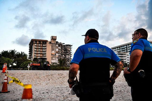 POLICÍA REPORTA AL MENOS 99 DESAPARECIDOS EN DERRUMBE EN MIAMI