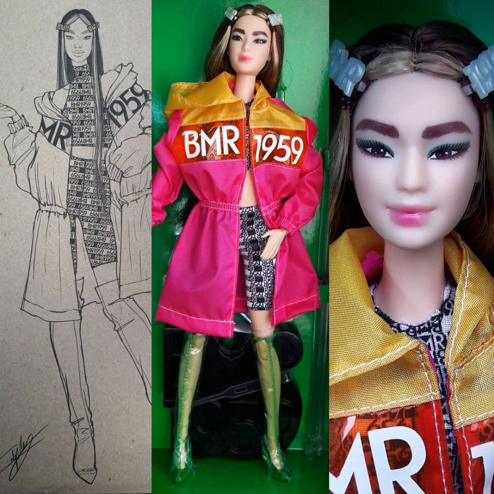 Высокая Барби БМР 1959 азиатка