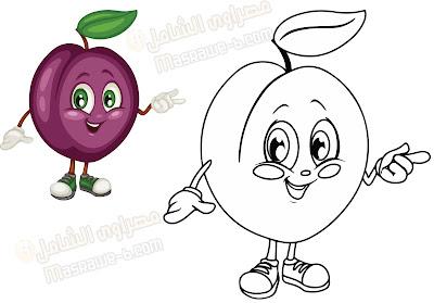 رسومات للتلوين فواكه وخضروات 5