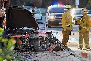 paul walker dead in car crash