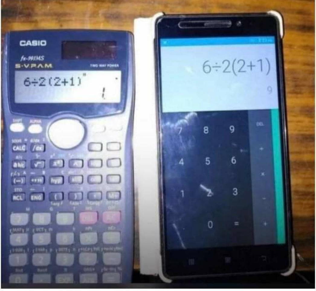 What wrong between Modern Calculator and Smart Phone Calculator
