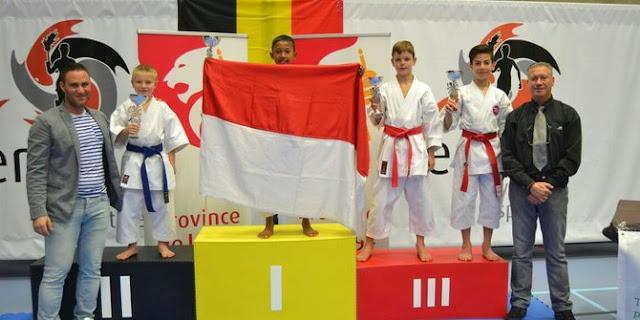 Bufon Sinaga, Bocah SD Asal Siak Juara Karate di Belgia