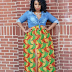 Photo Collection Of Beautiful Ankara Long Skirts For All Women and girls Pics