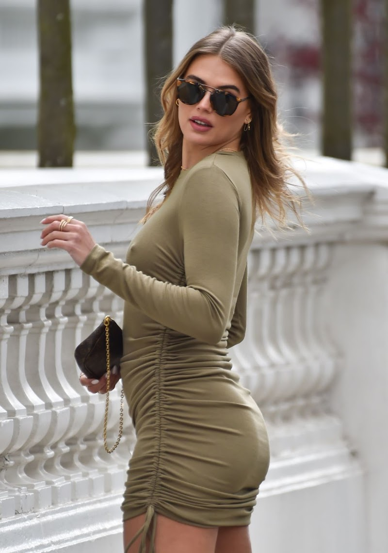 Arabella Chi Clicked Outside in London 13 Apr-2021