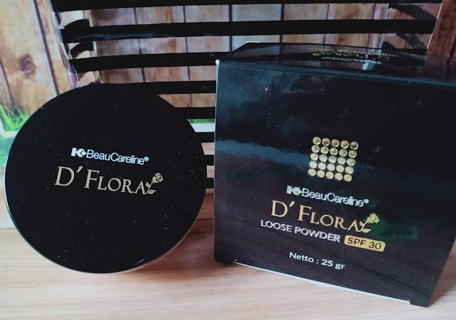 D'Flora loose Powder dilengkapi dengan SPF 30 yang memberikan kesan lembut, warna kulit yang rata dan tampil menawan. Hadir dalam 2 varian yaitu shade Beige dan Golden Beige. Untuk penggunaan sehari-hari yang ringan , D'Flora Loose Powder menjadi salah satu item wajib yang harus ada dalam pouch make up! Karena D'Flora Loose Powder mengandung bahan-bahan pilihan yang berkualitas,