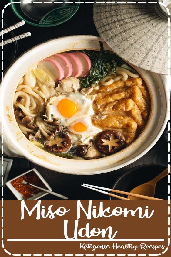is a hearty and comforting noodle soup where chicken Miso Nikomi Udon