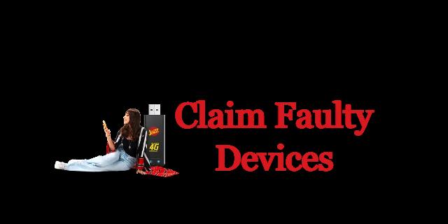 Claim Faulty Jazz WiFi Device