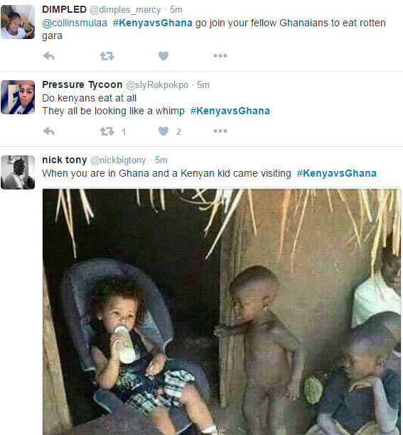 #KenyavsGhana: Kenyans and Ghanaians rip each other apart on Twitter